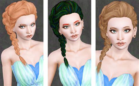 sims 3 braid hair my sims 3 blog surfing side braid store hair retexture by