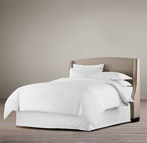 restoration hardware warner low upholstered beds