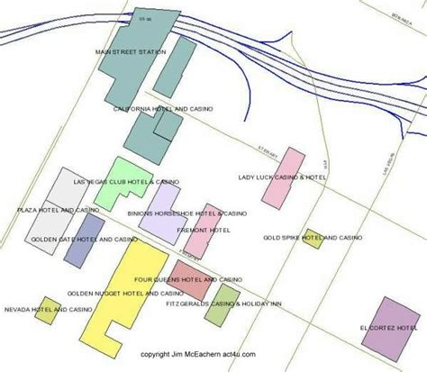 map of las vegas downtown casinos map of las vegas downtown casinos downtown las vegas