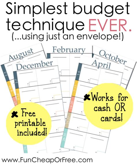 free printable envelope system simplest budgeting technique ever includes free