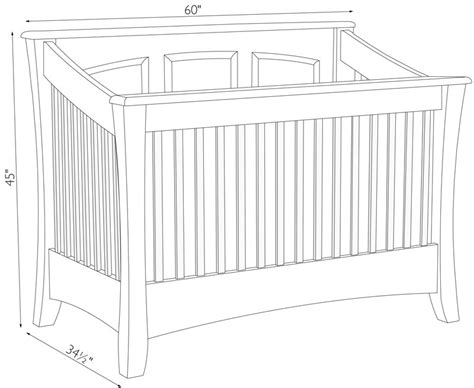 Crib Width by Carlisle Crib Ohio Hardwood Furniture