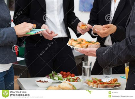 Foodst Office by Managers Meeting On Breakfast Stock Image Image 35256137