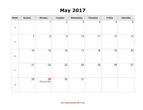 may 2017 calendar with holidays weekly calendar template