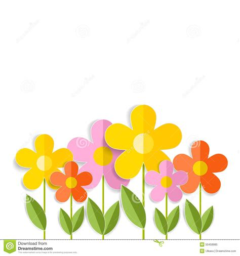 fiori 3d 3d flowers isolated on white vector eps 10 stock vector