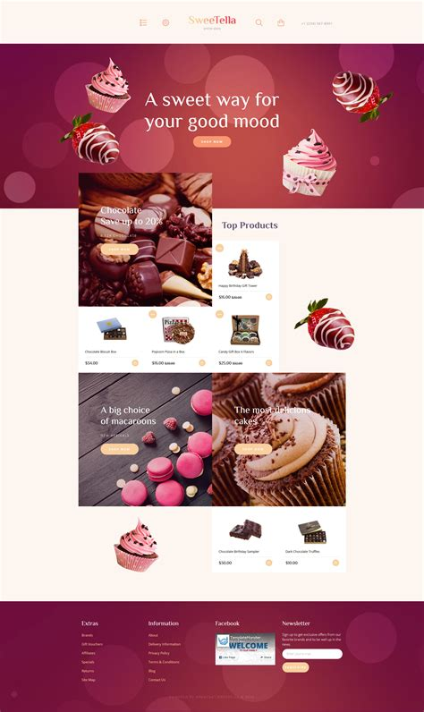 Sweets Opencart Template Template Shop Free