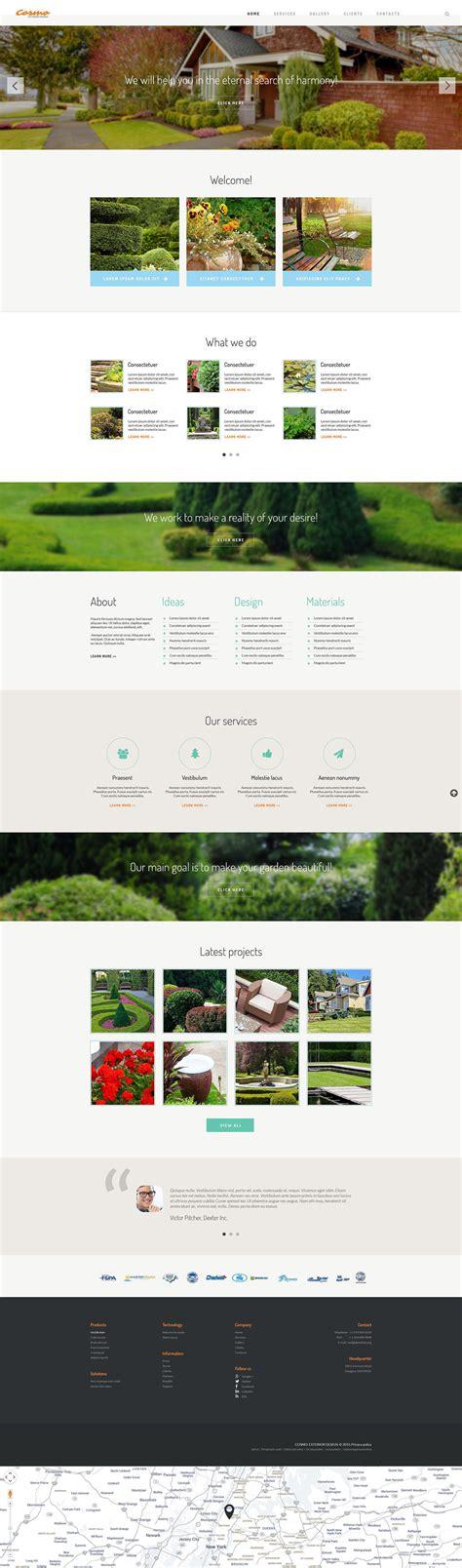 exterior design responsive website template 54566