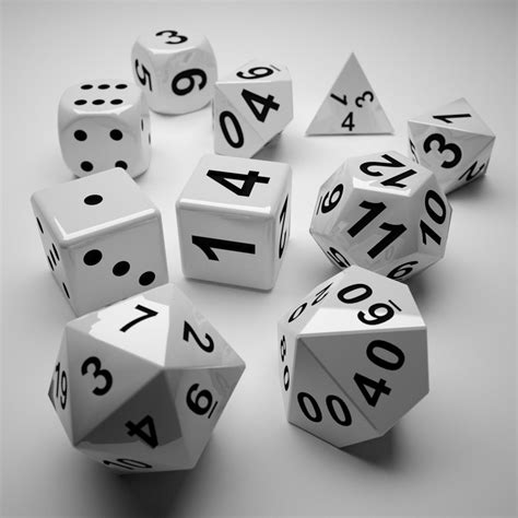 printable dice set role playing dice complete set 3d model 3d printable