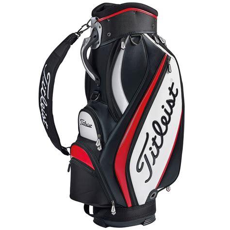 titleist golf bag titleist midsize golf staff bag black white