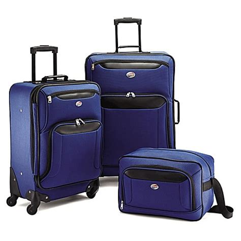bed bath and beyond brookfield american tourister 174 brookfield 3 piece luggage set bed
