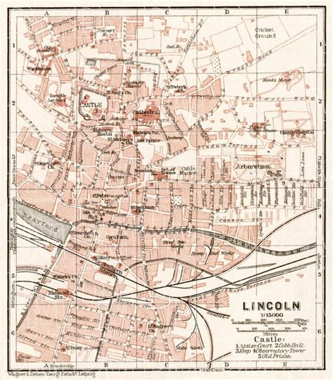 printable area old os old map of lincoln in 1906 buy vintage map replica poster