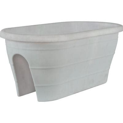 White Trough Planter by Pride Garden Products Mela 23 In X 11 In White Plastic