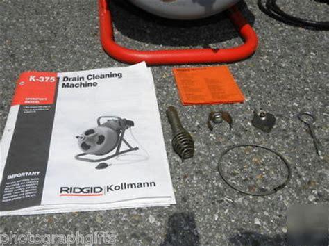 Ridgid kollmann drain pipe cleaning machine sewer snake
