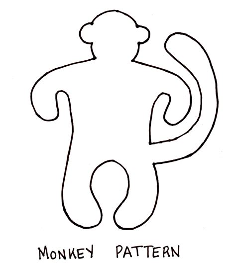 free printable monkey template monkey outline car interior design