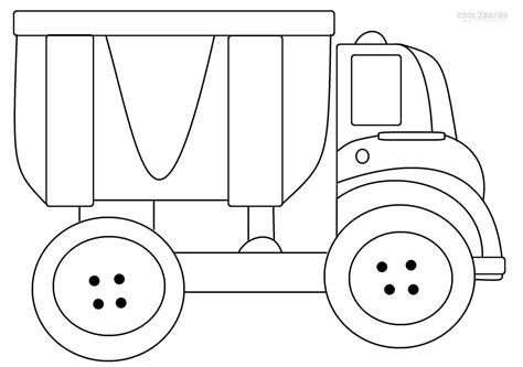 Truck Printable Coloring Pages printable dump truck coloring pages for cool2bkids