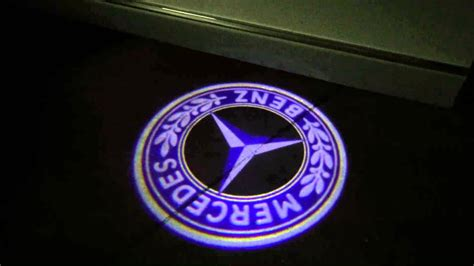 logo mercedes 2017 mercedes blue 3d led logo doorstep lights