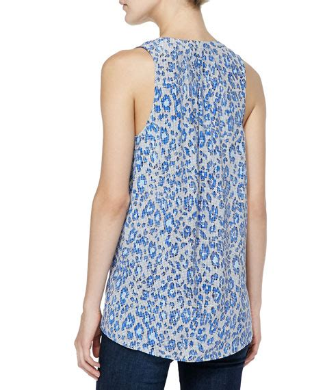 Aruna Dress joie aruna printed sleeveless silk top