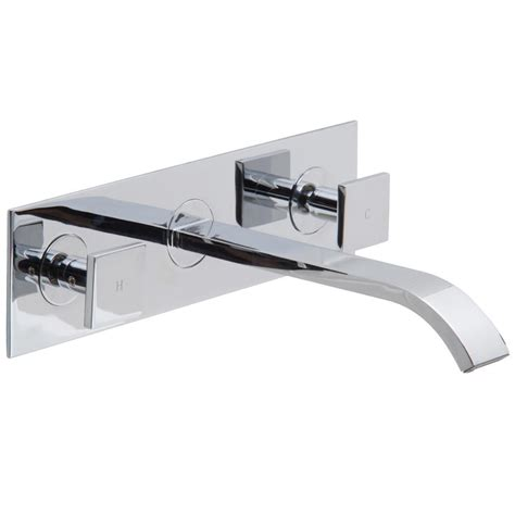 bathtub faucets wall mount vigo titus dual lever 2 handle wall mount bathroom faucet