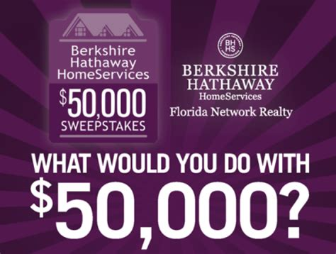 Berkshire Hathaway Sweepstakes - berkshire hathaway homeservices announces a chance to win 50 000 for home