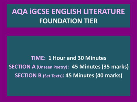 aqa english literature unseen igcse english lit aqa foundation revision pack romeo juliet and unseen poetry by uk teaching