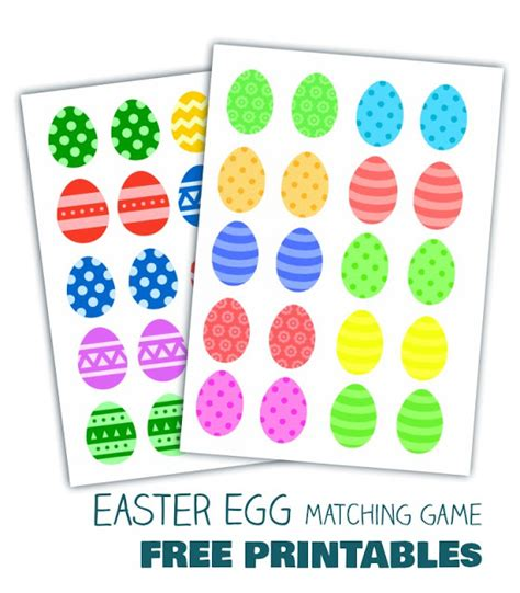 matching your pattern game easter egg matching game free printables applegreen
