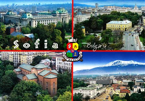 views from sofia bulgaria collection of postcards