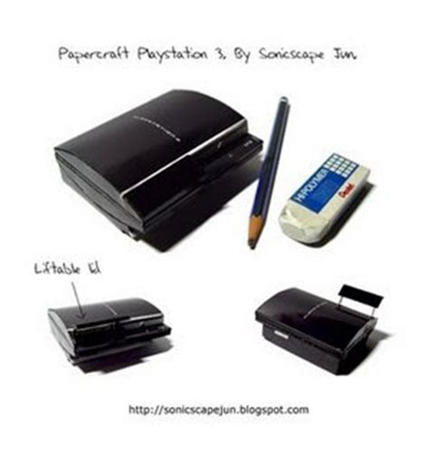 Playstation Papercraft - playstation 3 papercraft free papercrafts paper models