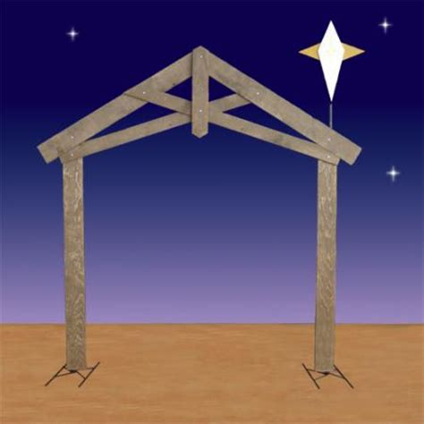bethehem star plans sized nativity stable with 2d 94 quot h