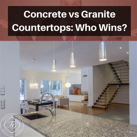 Concrete Countertops Vs Granite by Concrete Vs Granite Countertops Who Wins
