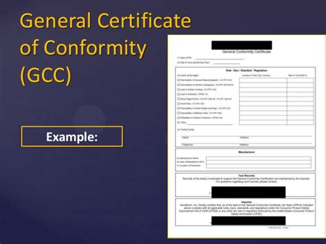 Selling Compliant Apparel In The United States English Children S Product Certificate Template