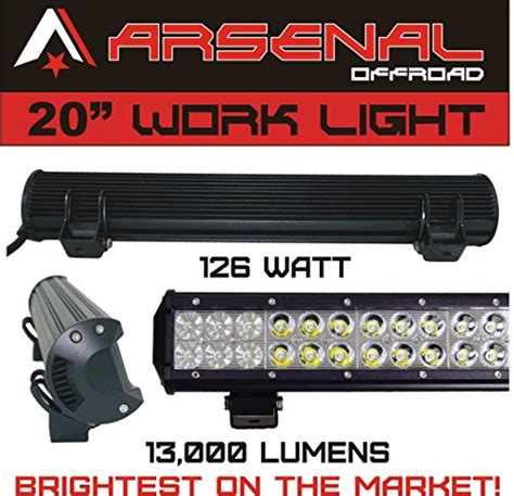 arsenal offroad 1 20 quot dual row high power 126w cree xb d smd work light
