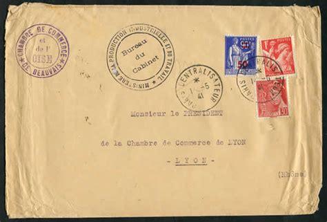 chambre de commerce oise histoire postale du courrier interzones 1940 1944