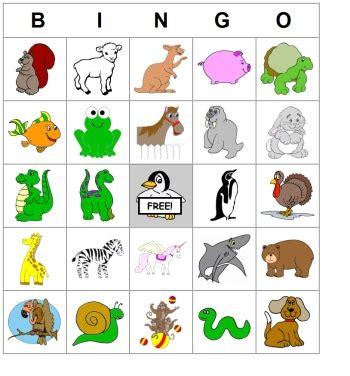 printable animal lotto cards bingo