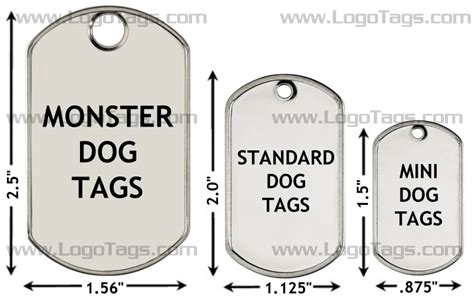 Tag For Standard Size Of Tag Dimensions
