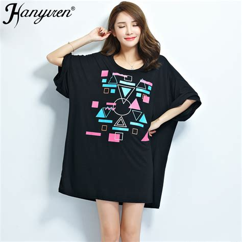 t shirt dress pattern plus size 2016 new summer plus size women t shirt pattern print tees