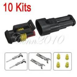 10 kits car 2 pin way sealed waterproof electrical wire connector set truck ebay