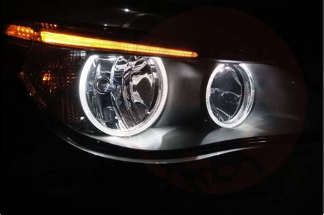 bmw e60 lci facelift 24w high power led angel eyes red