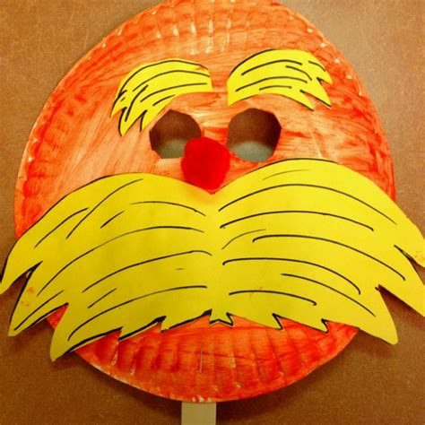 Dr Seuss Paper Plate Craft - dr seuss lorax crafts for