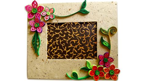 How To Make Paper Quilling Frames - how to make beautiful quilling photo frame easy craft