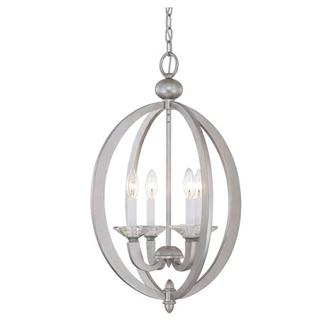 4 Light Pendant Savoy House Forum Silver Sparkle Four Light Foyer Pendant On Sale