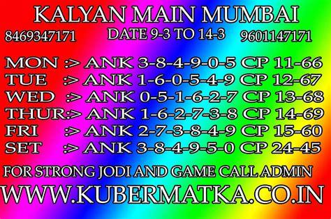 Kalyan Main Mumbai Final Ank | satta matka tips and trick by rbsir kalyan and main