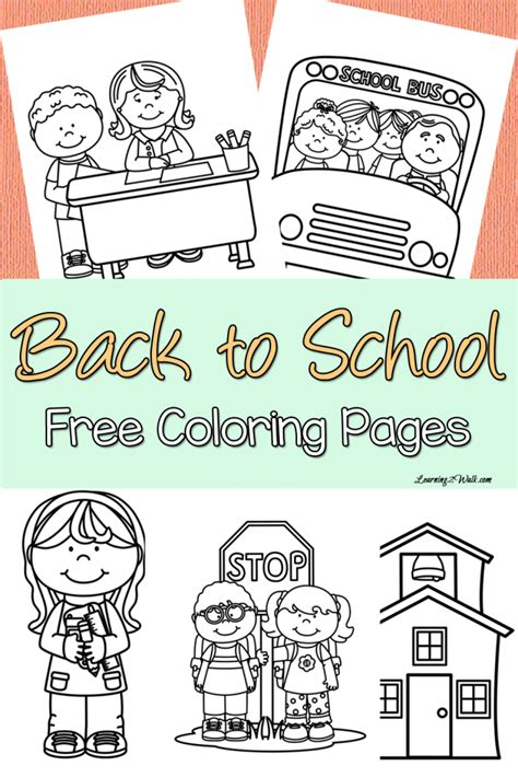 back to school coloring pages free free back to school coloring pages free homeschool deals