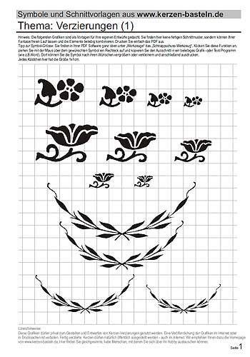 Schablone Selbst Gestalten by Schablonen Kostenlos Zum Kerzen Gestalten Templates