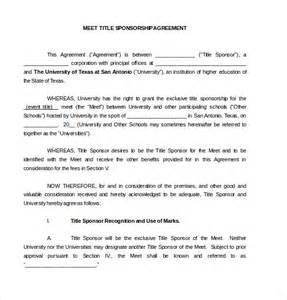 Sponsor Agreement Template 15 Sponsorship Agreement Templates Free Sample Example