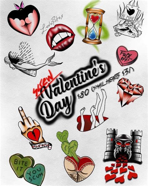 valentine tattoo designs this is another flash for our valentines day special