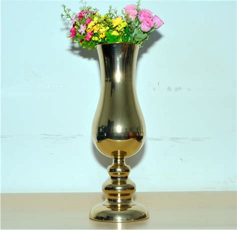Big Vase Decoration by H45 5cm European Gold Plated Large Floor Vases Wedding