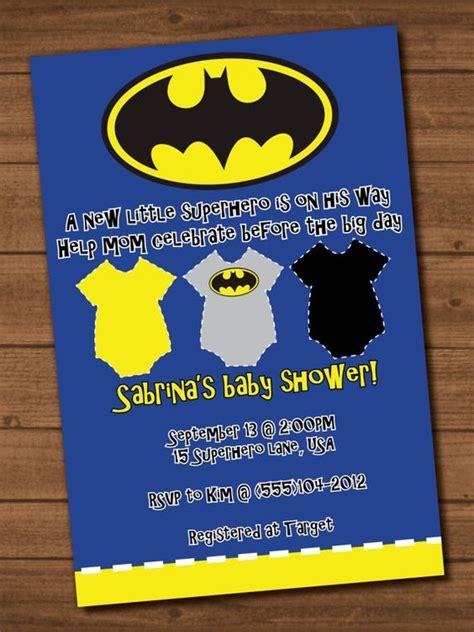 Batman Baby Shower Invitations by Batman Baby Shower Invite File Boys Batman Baby Showers