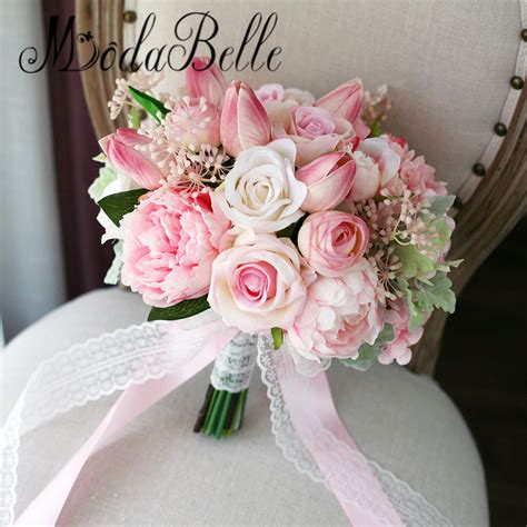 Where To Buy Bridal Bouquets popular bridal bouquets pink buy cheap bridal bouquets