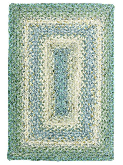 rugs cotton baja blue cotton braided rug cottage home 174