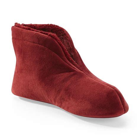 bootie slippers for dearfoams women s velour bootie slippers