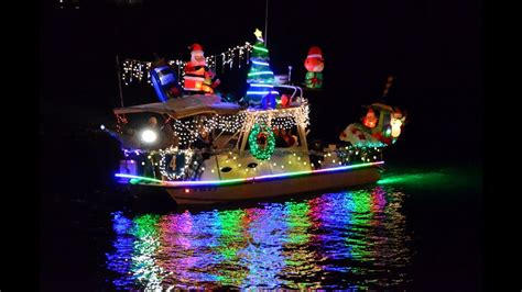 boat lights in kemah parade of lights shines on san diego bay youtube